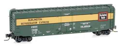 "50' Standard Box Car Plug Door ""Burlington"" RBBX 79468"