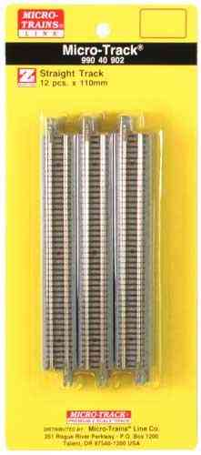 Micro-Track 110mm Straight Track / Gerades Gleis (12 Pack)