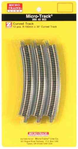 Micro-Track 30 degree Curved Track / 30 Grad gebogenes Gleis (12 Pack)