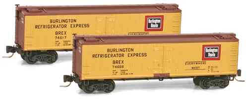 Wood Reefer Burlington Refrigerator Express Co. BREX 74647