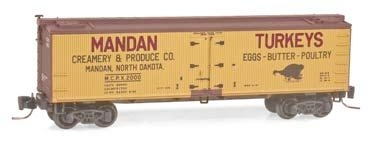 Wood Reefer Mandan Creamery & Produce Co. MCPX 2000
