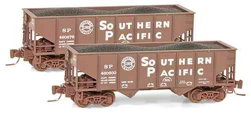 Southern Pacific 33' rib side twin bay open hopper 460676