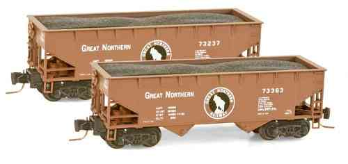 Great Northern 33' smooth side twin bay open hopper 73363