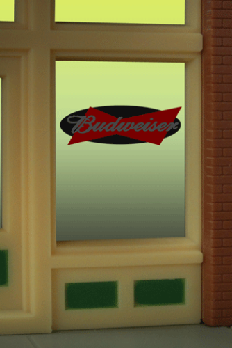 Window Sign BUDWEISER