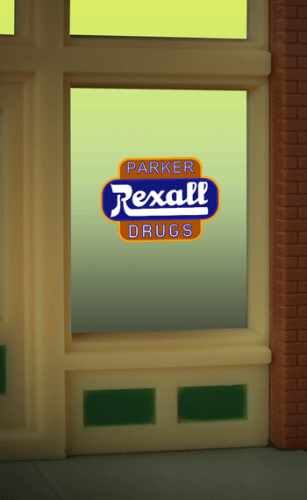 Window Sign REXALL
