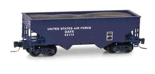 United States Air Force 33' smooth side twin bay open hopper DAFX 55175