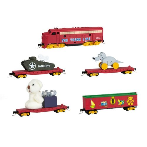 Toy Trunk Line Christmas Set