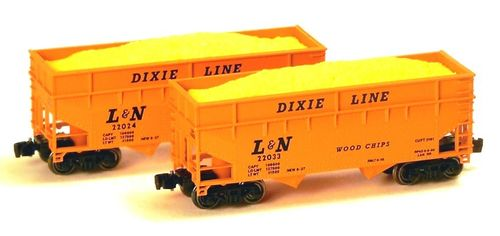 LOUISVILLE & NASHVILLE Woodchip Hopper 2-Pack Set #1