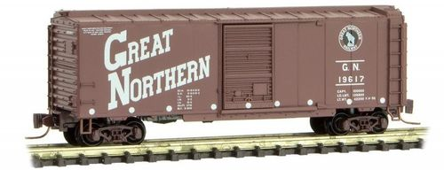 Great Northern 40' Single Door Box Car #19617 Circus Series #3