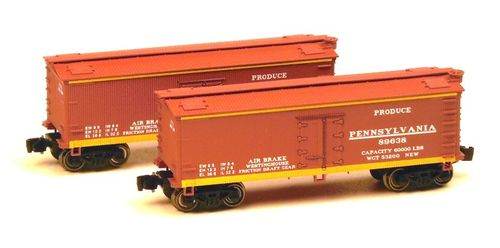 Pennsylvania RR - 34' Woodside updated Reefer Set #1