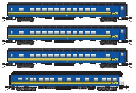 VIA Passenger Car 4-pack