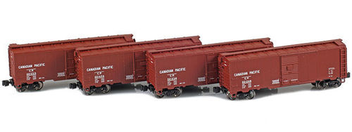 Canadian Pacific 40' AAR boxcar 4pck.