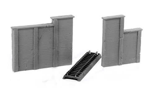 Aged concrete retaining walls (2 Piece Set)