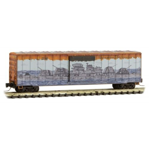 WEATHERED/GRAFFITI Railbox 'Pearl Harbor' – 50' Rib Side Box Car