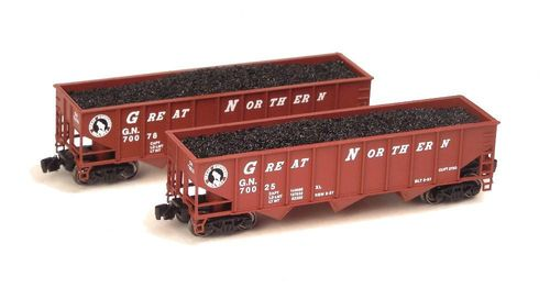 Great Northern 70-ton 3-Bay Ribside Hopper Set-2