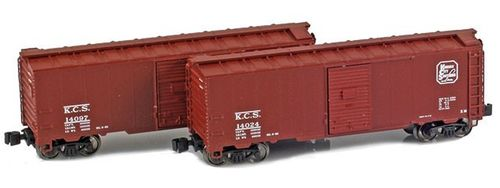 Kansas City Southern 40' AAR Boxcar 2-Pack #14024, 14097