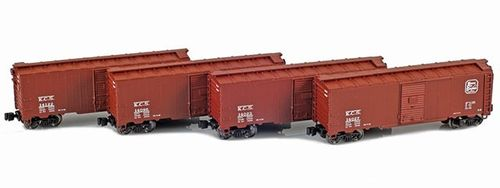 Kansas City Southern 40' AAR Boxcar 4-Pack #14023, 14027, 14096, 14122