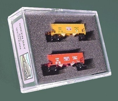RARE - Green Bay And Western 2-Bay Hopper 2-Pack red and yellow Set #2