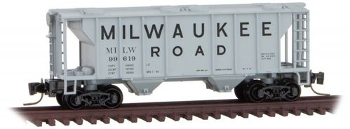 Milwaukee Road PS-2 Two-Bay Covered Hopper #MILW 99619