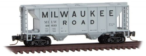 Milwaukee Road PS-2 Two-Bay Covered Hopper #MILW 99633
