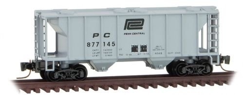 Penn Central PS-2 Two-Bay Covered Hopper #PC 877145