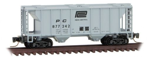 Penn Central PS-2 Two-Bay Covered Hopper #PC 877242