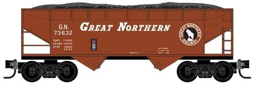 Great Northern 33' smooth side twin bay open hopper #73632