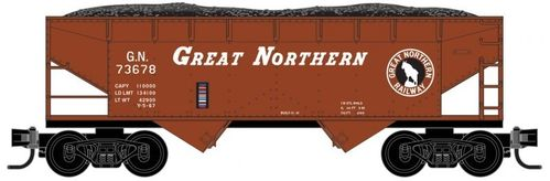 Great Northern 33' smooth side twin bay open hopper #73678